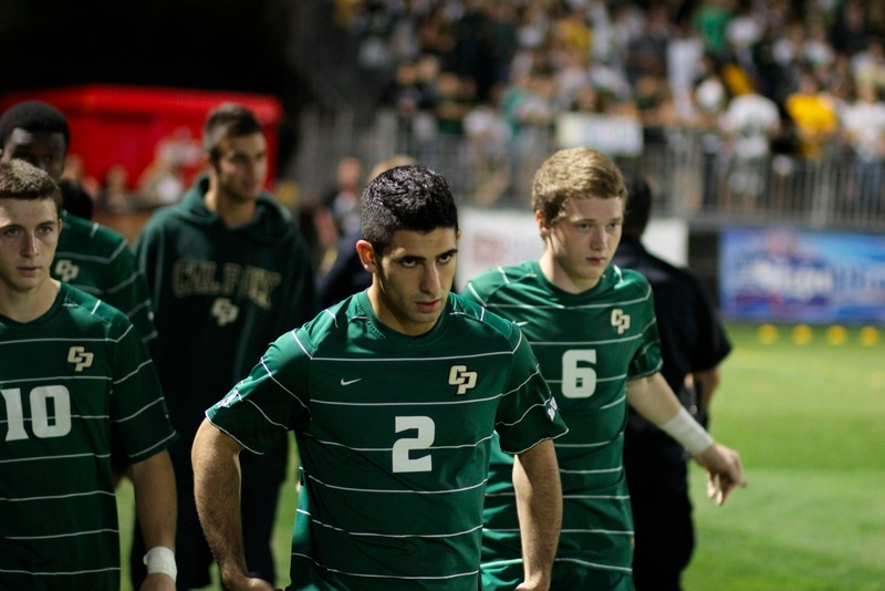George Malki had his game-face on before Saturday's game. His second-half goal was his fourth of the season and the first game-winner of his career. Photo by Owen Main