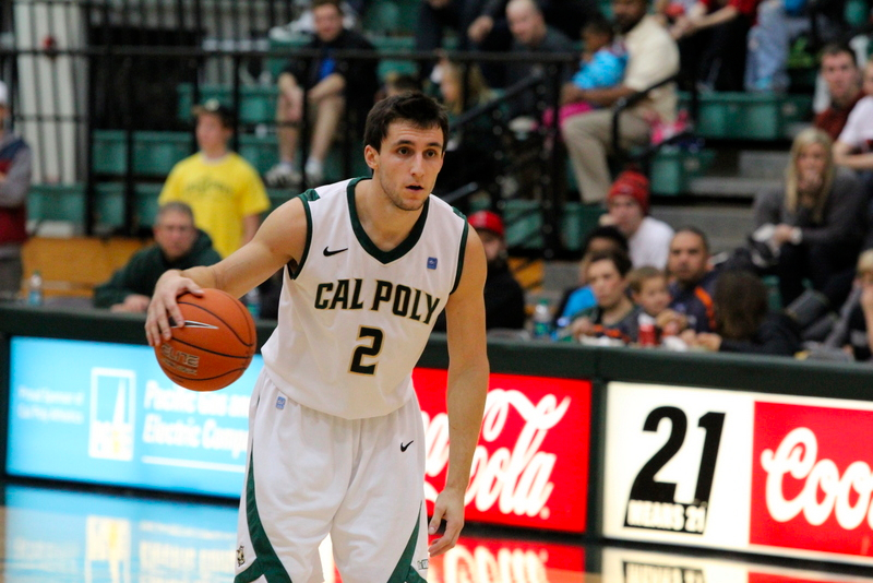 Chris O'Brien poured in 16 points on Saturday night to help Cal Poly move to 3-0 in Big West Conference play. By Owen Main