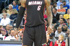 Can LeBron and the Heat win a third straight NBA title or will another de-thrown them? By Steve Jurvetson (Flickr: LeBron James) [CC-BY-2.0 (http://creativecommons.org/licenses/by/2.0)], via Wikimedia Commons