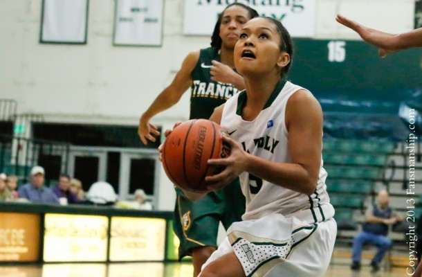 Along with Jonae Ervin, Ariana Elegado (pictured) is really skilled at driving to the basket. By Owen Main