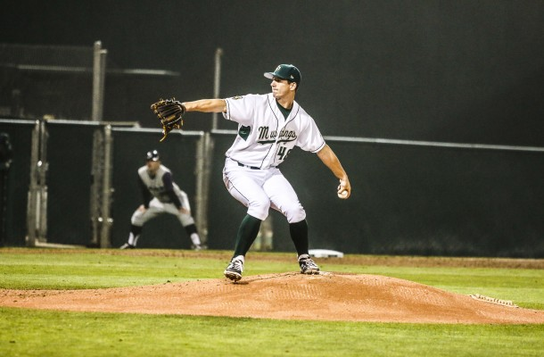 Matt Imhof was dealing on Friday night at Baggett Stadium. By Owen Main