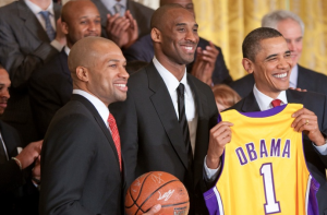 If the front office handles the 2014 offseason correctly, it may only be a few seasons until the Lakers return to the White House. By Lawrence Jackson [Public domain], via Wikimedia Commons