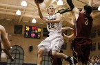 Ben Covington takes the ball to the basket on Friday night. By Owen Main