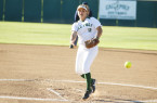 Freshman pitcher Sierra Hyland started both Tuesday night games for Cal Poly. By Owen Main