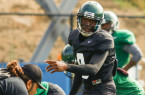 Chris Brown will be the opening game starter at quarterback for Cal Poly when they face New Mexico State on Thursday night. By Owen Main