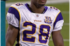 Adrian Peterson should be the #1 overall pick in every fantasy football league.  By Mike Morbeck, via Wikimedia Commons
