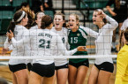 Cal Poly Volleyball won their home opener on Friday night at Mott Athletics Center. By Owen Main