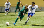Chase Minter's shirt is almost ripped-off as a Drake defender executes to perfection. By Owen Main