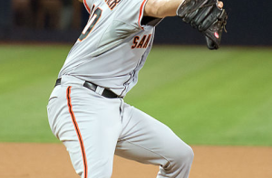 Madison Bumgarner has lead the Giants back to the fall classic in 2014. By SD Dirk on Flickr [CC-BY-2.0 (http://creativecommons.org/licenses/by/2.0)], via Wikimedia Commons