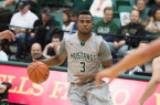 Cal Poly's Maliik Love is one of four seniors on this year's team. By Owen Main