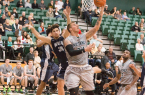 Brian Bennett led Cal Poly with 15 points and 8 rebounds. By Owen Main