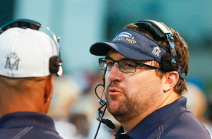 Rich Seubert spent this past season coaching high school football at Mission Prep. By Owen Main