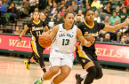 Dynn Leaupepe had her best individual game of the season. By Owen Main