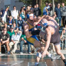 Cal Poly lost the meet, but watching an outdoor wrestling event in 70 degree weather in January is a fun thing. By Owen Main