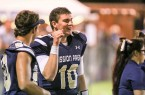 Mission Prep quarterback Bryce Fledderman threw for 295 yards and three touchdowns on Friday night. By Owen Main