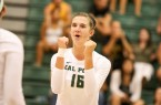 Raeann Greisen had 10 kills for Cal Poly on Saturday afternoon, but it wasn't enough against LMU. By Owen Main