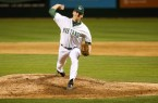 Spencer Howard pitched 3 2/3 innings on Tuesday night to pick up the victory for Cal Poly. By Owen Main
