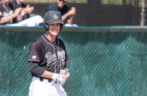 After the first extra-base hit of his career, Connor O'Hare was all smiles on Saturday. By Owen Main