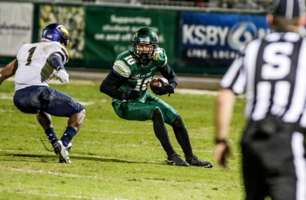 Carson McMurtrey caught four passes last Saturday. By Owen Main